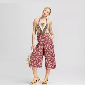floral overall jumpsuit